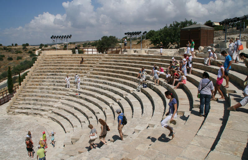 Amphitheatre de Curion. Chipre fotografia de stock
