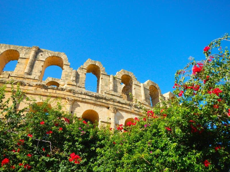 Amphitheatre del al-Jem imágenes de archivo libres de regalías