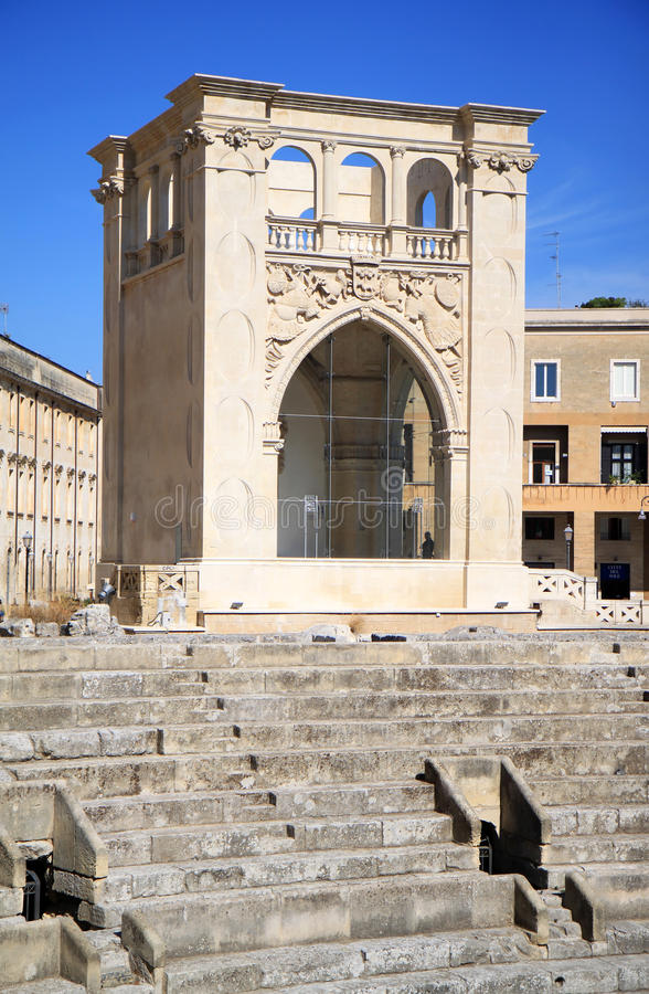 Amphitheatre Downtown In Lecce, Italy Editorial Stock Image