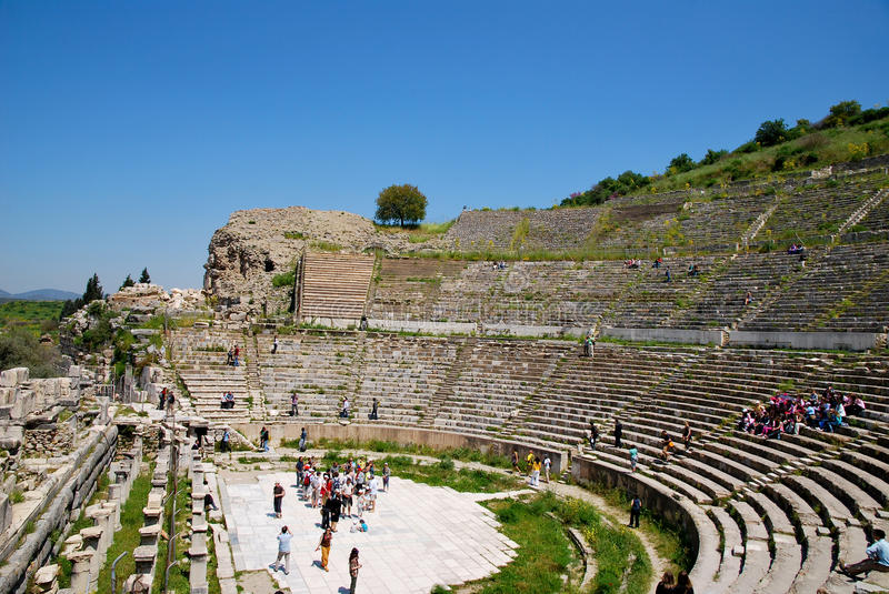 Download The Amphitheatre Of Ephesus Stock Photo - Image of ephesus, historic: 19509928
