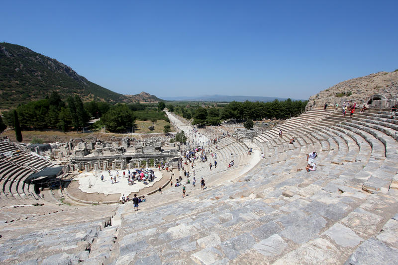 Download Amphitheatre at Ephesus editorial stock photo. Image of greek - 26325788