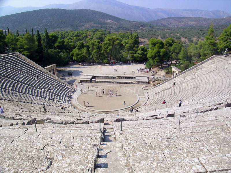 Amphitheatre grec photographie stock libre de droits