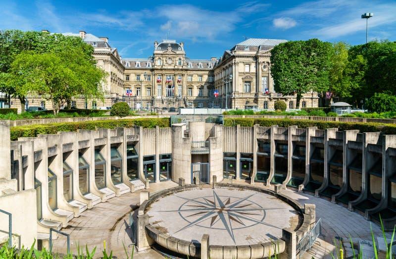Amphitheatre i prefektura Lille w republika kwadracie Francja obraz royalty free