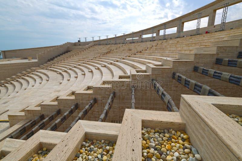 Amphitheatre in Katara Village in Doha, Qatar. An Amphitheatre in Katara Village in Doha, Qatar stock photos