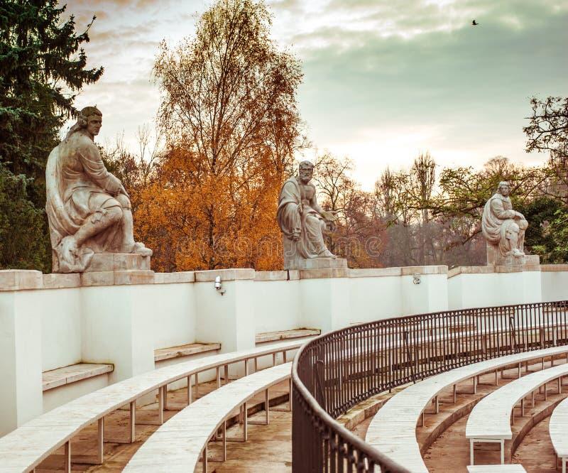Amphitheatre in Lazienki Park royalty free stock photos