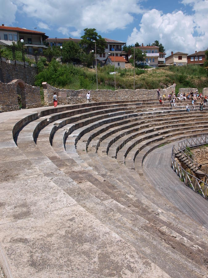 amphitheatre Macedonia ohrid fotografia stock