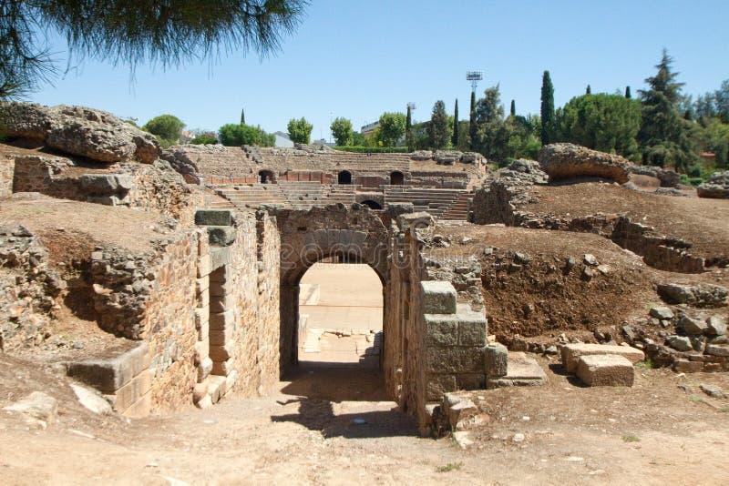 Amphitheatre Merida fotografia royalty free