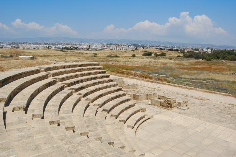 Amphitheatre in paphos, Cipro fotografie stock