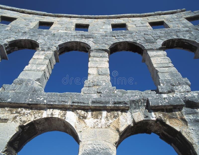 Amphitheatre, PULA immagine stock libera da diritti