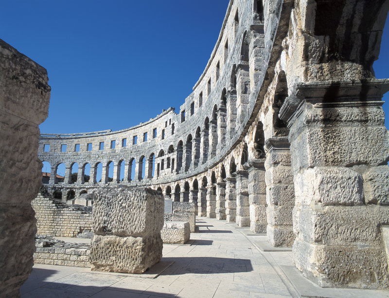 Download Amphitheatre, Pula stock photo. Image of ruins, architecture - 3164738