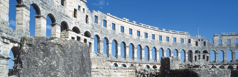Amphitheatre, Pula photos stock