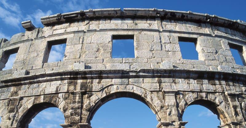 Amphitheatre, Pula stockfoto