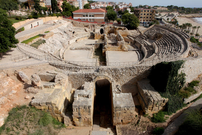 Amphitheatre romano de Tarragona foto de stock