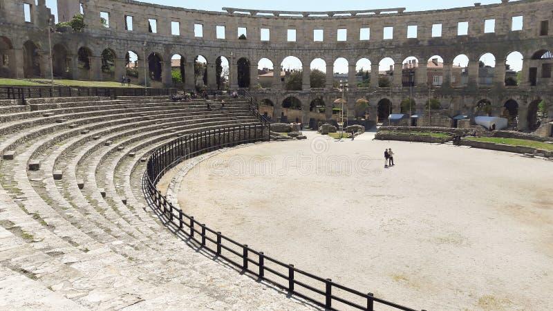 Amphitheatre romano en las pulas - Croacia fotos de archivo libres de regalías