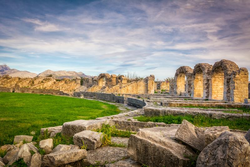 Amphitheatre Salona royalty-vrije stock afbeeldingen