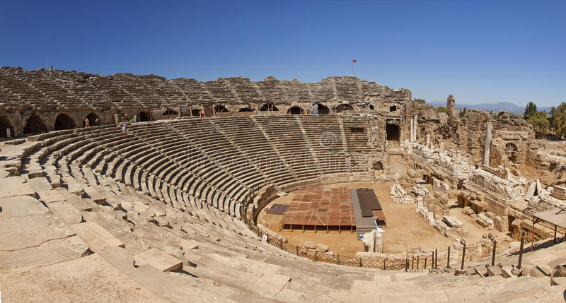 Amphitheatre In Side Turkey Stock Images
