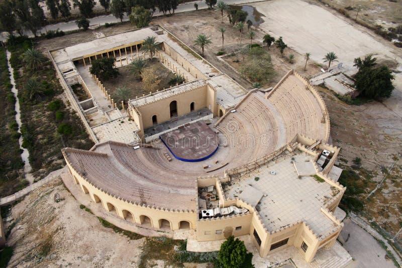 Amphitheatre van oude Babylon royalty-vrije stock foto's