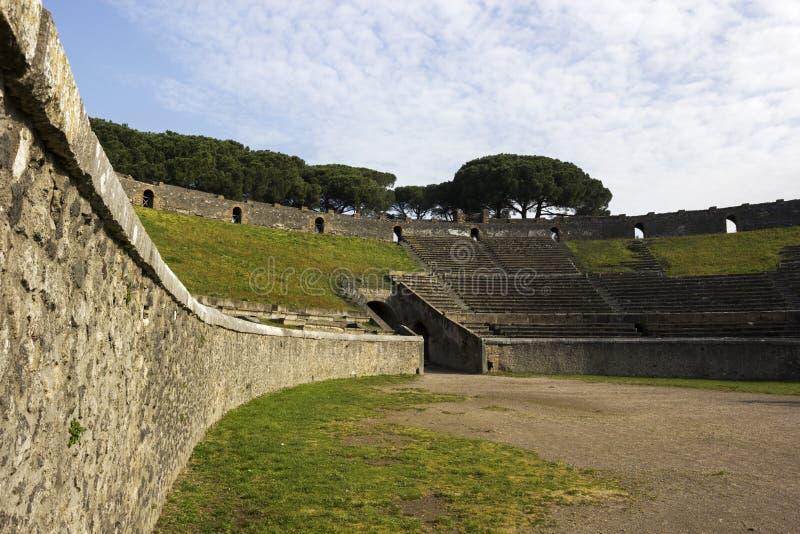 Amphitheatre van Pompei in Italië royalty-vrije stock afbeelding
