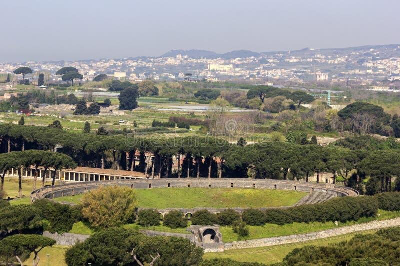 Amphitheatre van Pompei in Italië royalty-vrije stock afbeeldingen