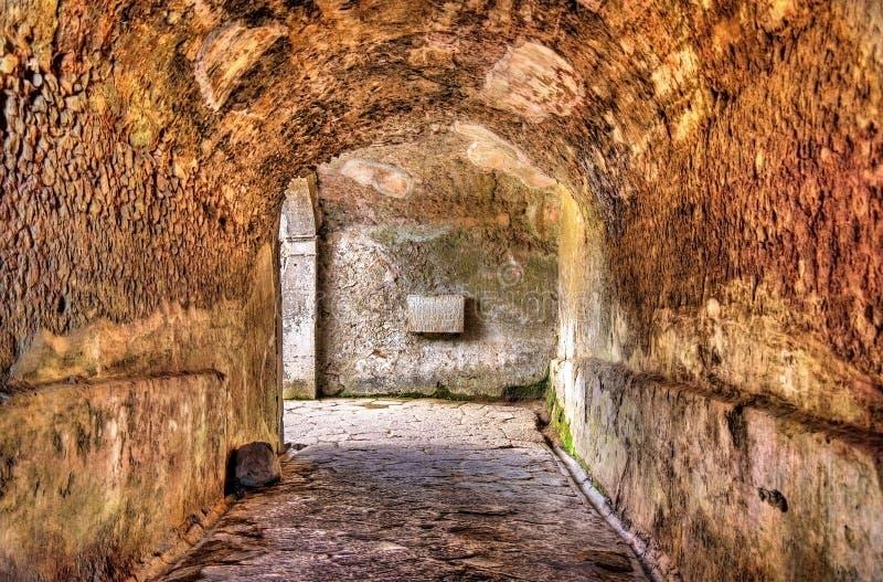 Amphitheatre van Pompei - Italië royalty-vrije stock foto