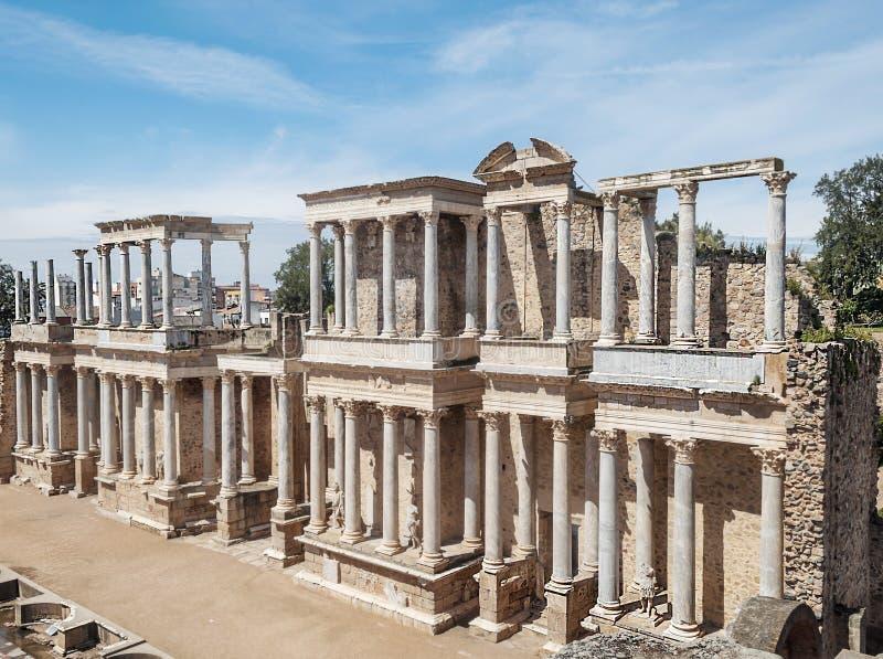 Amphitheatre von Emerita Augusta lizenzfreie stockbilder