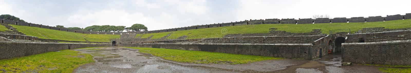 Amphitheatre w antycznym Romańskim mieście Pompeii, Włochy zdjęcia royalty free