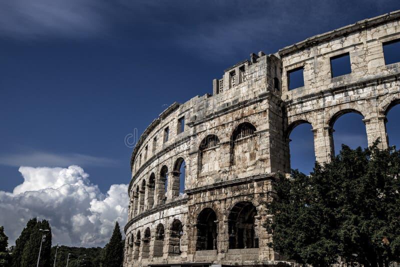 Amphitheatre w Pula zdjęcia stock