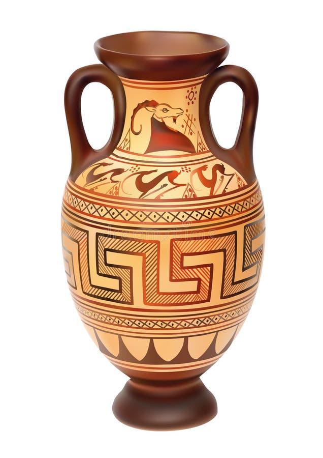 Amphora ilustração royalty free