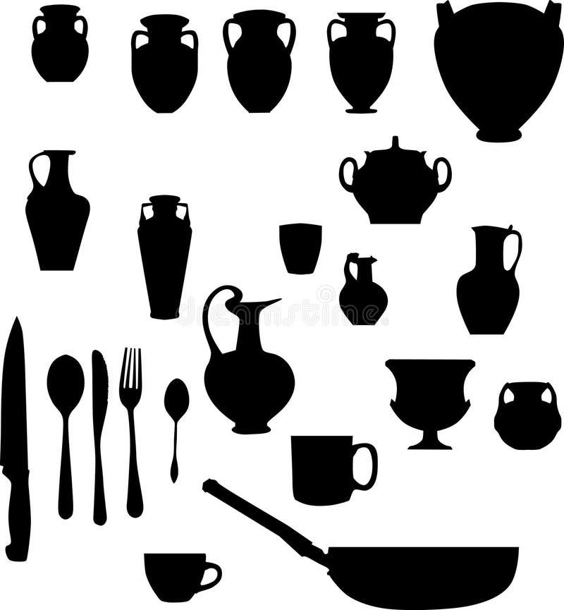 amphora d'autres articles illustration de vecteur