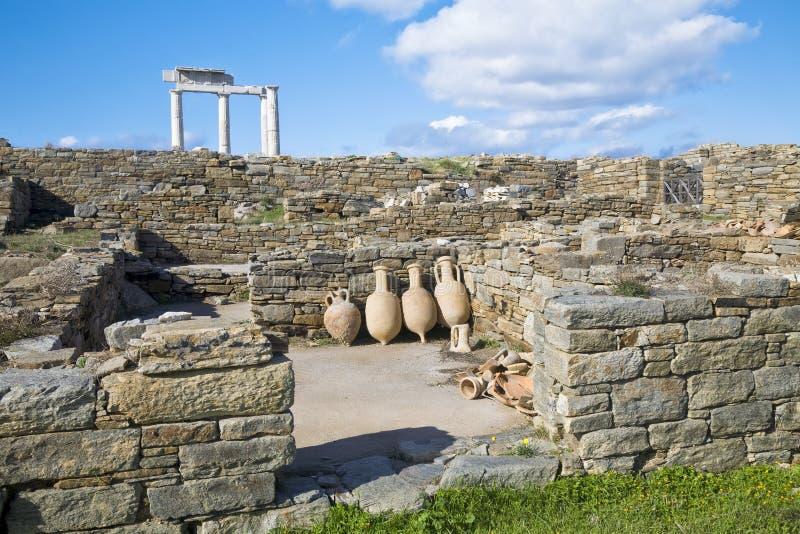Amphora de Delos imagenes de archivo