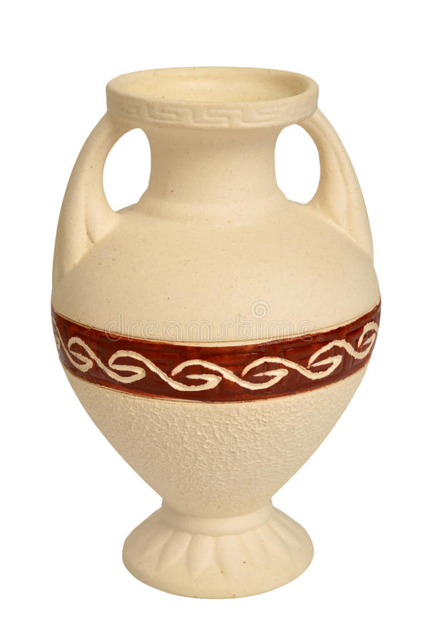 Amphora del griego clásico fotos de archivo libres de regalías