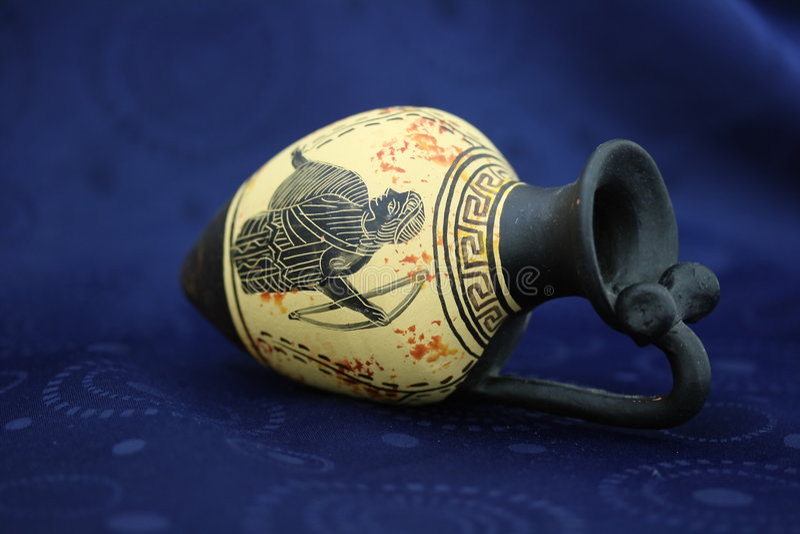 Amphora del griego clásico fotografía de archivo libre de regalías