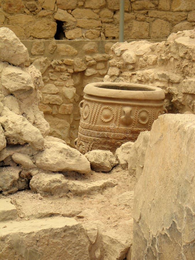Amphora do estilo de Minoan foto de stock
