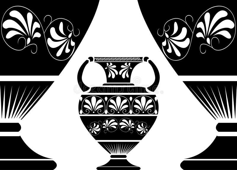 Amphora du grec ancien illustration de vecteur