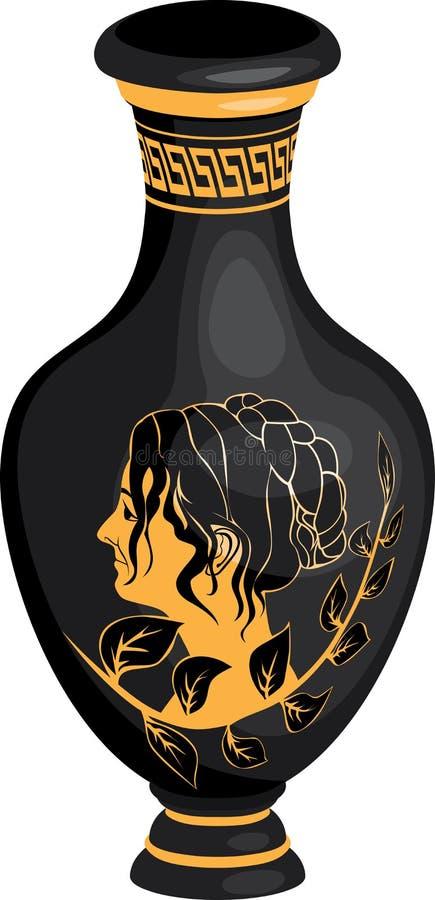 Amphora réaliste du grec ancien illustration stock