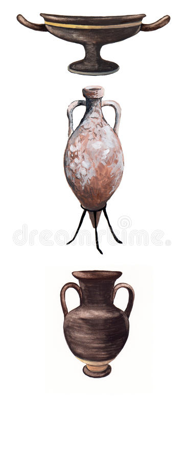 Amphorae and vases ancient Rome