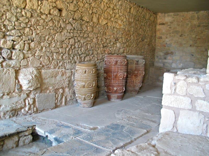 amphoras стародедовский Крит стоковая фотография rf