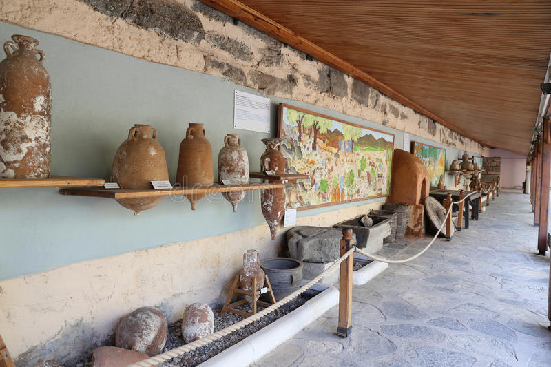 Amphoras in Bodrum Castle royalty free stock image