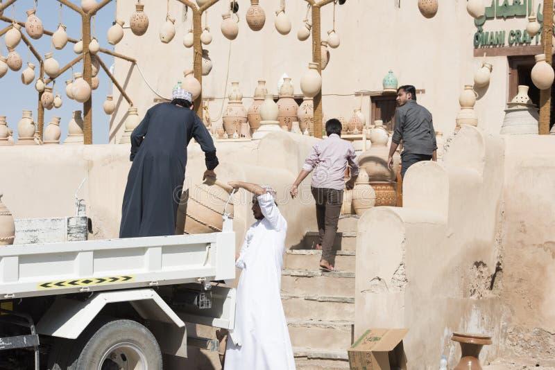 Amphoras in Nizwa stock photos