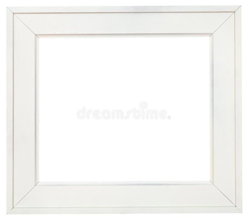Ampia cornice di legno bianca con tela tagliata immagine for Cornice bianca foto