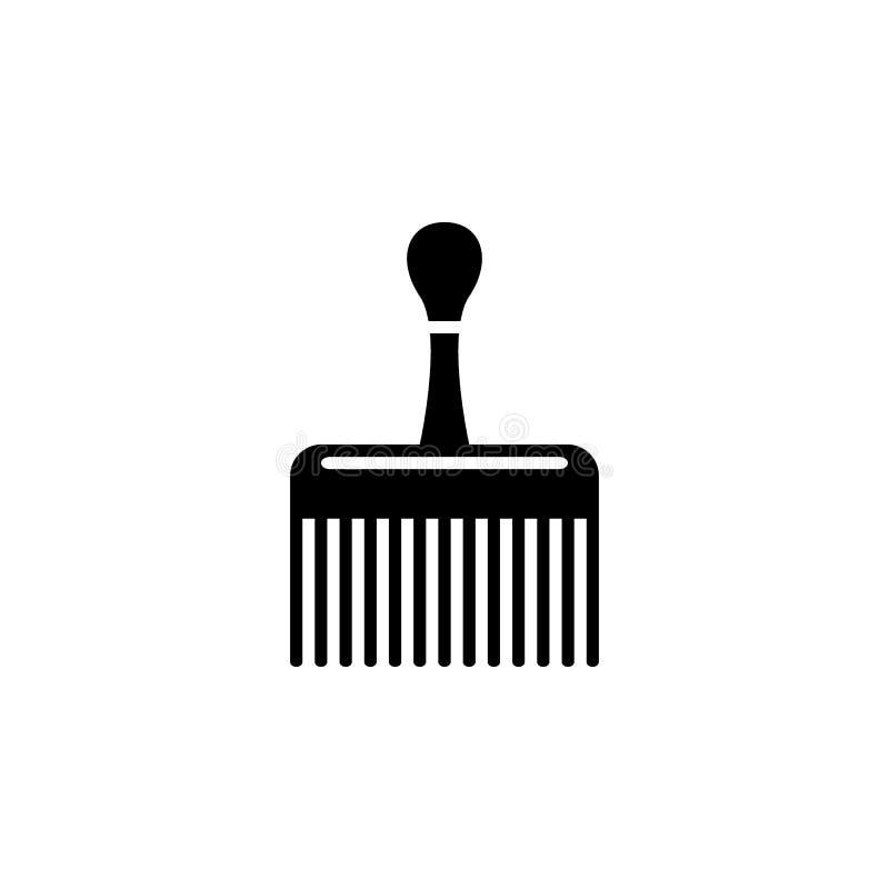 ampia icona del pettine Elemento del negozio di barbiere per i cartelloni pubblicitari, apps mobili di web e di concetto icona pe illustrazione di stock