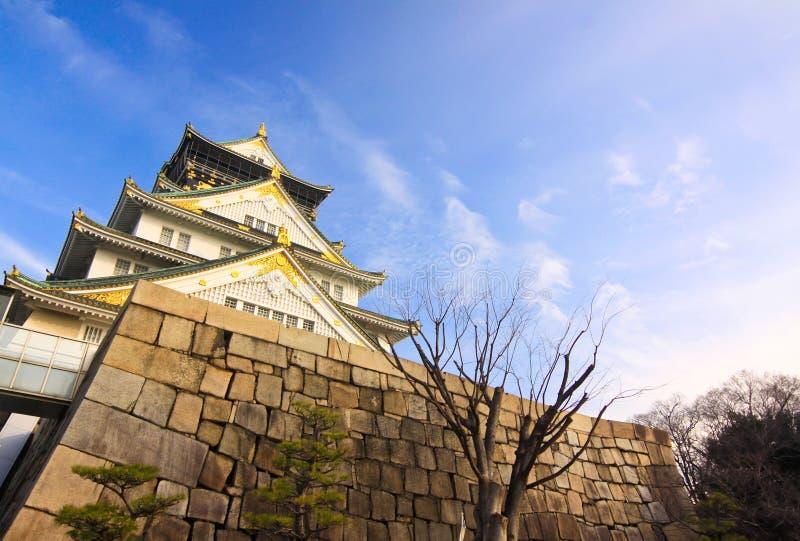 Ampia vista del castello di storia immagini stock