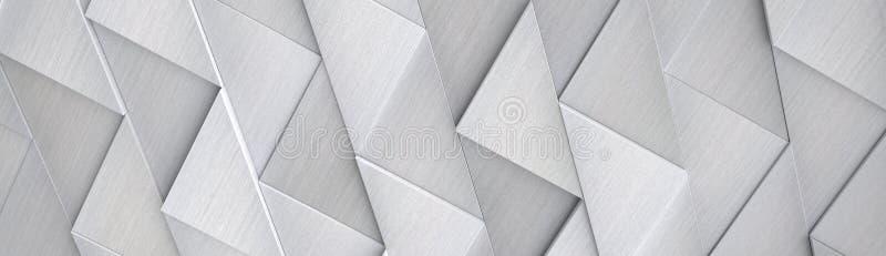 Ampio fondo di alluminio di Ciao-tecnologia & x28; Sito Head& x29; - illustrazione 3D illustrazione vettoriale