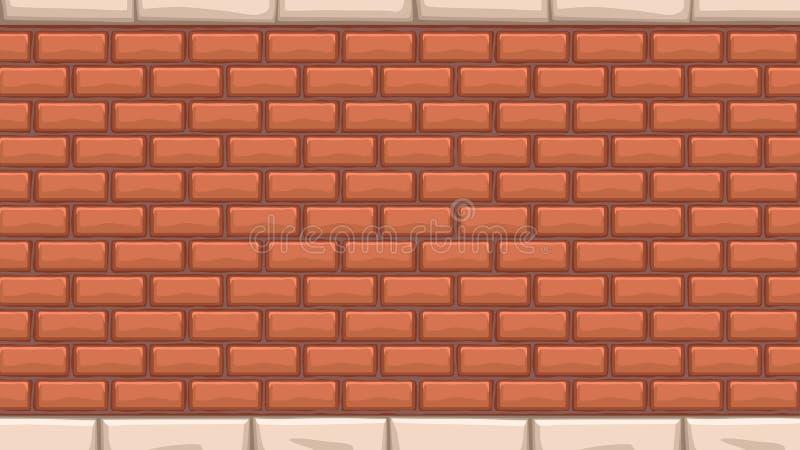 Ampio muro di mattoni rosso royalty illustrazione gratis