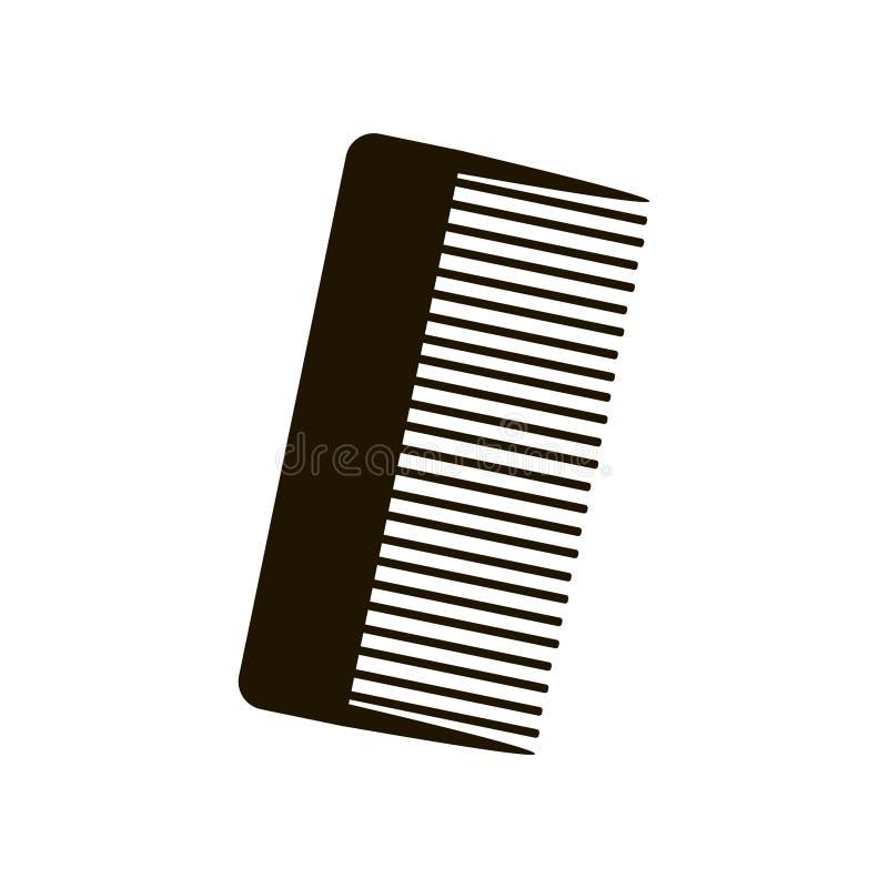 Ampio pettine professionale nero per taglio di capelli isolato su fondo bianco royalty illustrazione gratis
