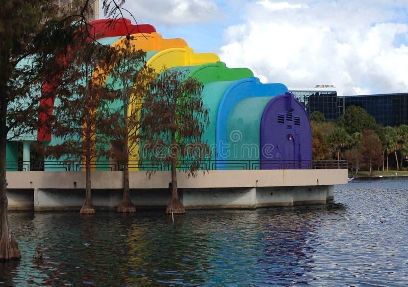 Ampitheater bij Meer Eola, Orlando, Florida stock foto