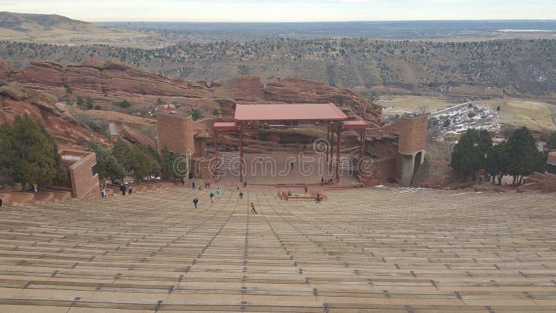 Ampitheater rosso della roccia fotografie stock