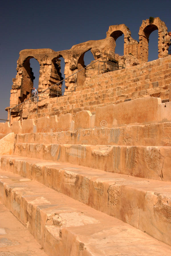 Ampitheatre Tunesien EL Djem lizenzfreie stockfotos
