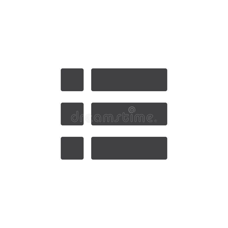 Amplíe el icono del vector del menú stock de ilustración