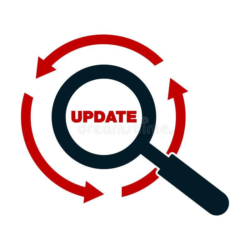 Ampliação do carregador do software da elevação do ícone do progresso da aplicação da atualização ilustração royalty free